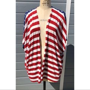 Filly Flair Stars and Stripes open shrug cardigan